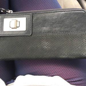 Wallet w/faux snake pattern