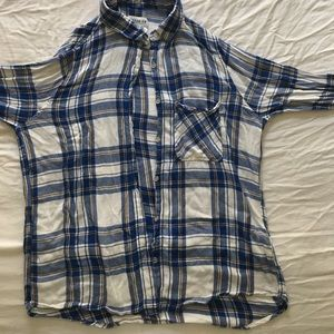 Blue, Yellow, and White Flannel