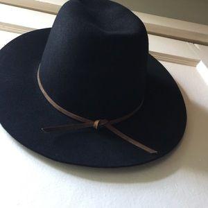 Brixton Accessories - BUNDLE of Two Felt Hats Black   Olive Green Fedora fd20b676ec82