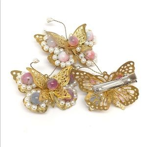 Accessories - 3 (Three) butterfly hair clips