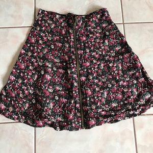 Floral zipper skirt