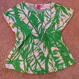 Lilly Pulitzer for Target Other - Green Palm Print Top