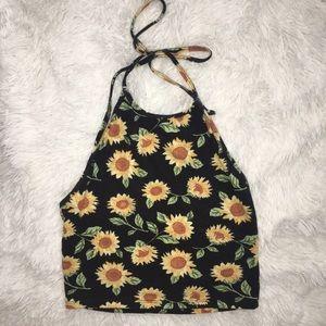 PacSun Tops - Sunflower Festival Crop Top