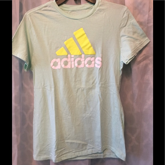 43 Off Adidas Tops Lg Adidas Seafoam Green T Shirt From
