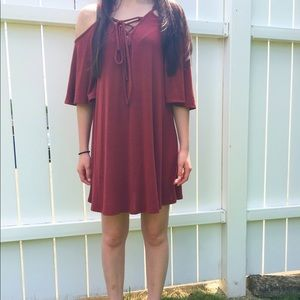 Dainty Hooligan Dresses & Skirts - DARK RED DRESS