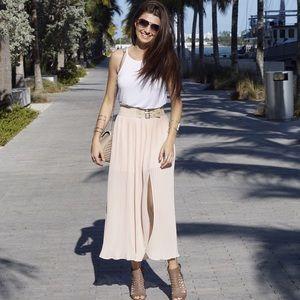 Style Link Miami Dresses & Skirts - ▫️SALE▫️PEACH PLEATED MAXI SKIRT