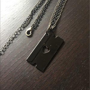 Hot Topic Jewelry - Razor Blade Heart Necklace