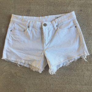 Blank NYC Pants - BlankNYC white cutoff shorts