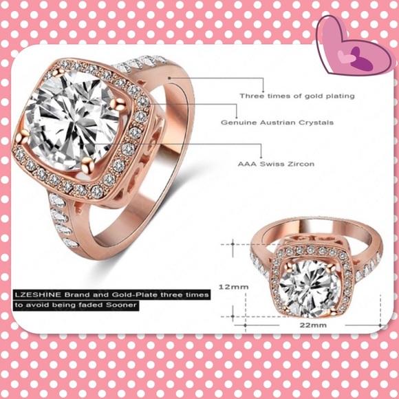 Gold Australian Platinum: Rose Gold/Platinum Plated Australian Crystal Ring From Lu