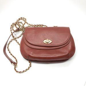 Brown cross-body purse
