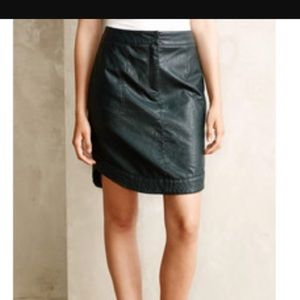 Anthropologie Dresses & Skirts - Anthro vegan leather skirt.