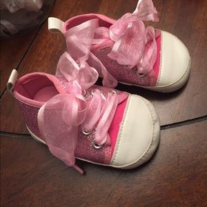 Other - Baby girl glitter pink tennis shoes