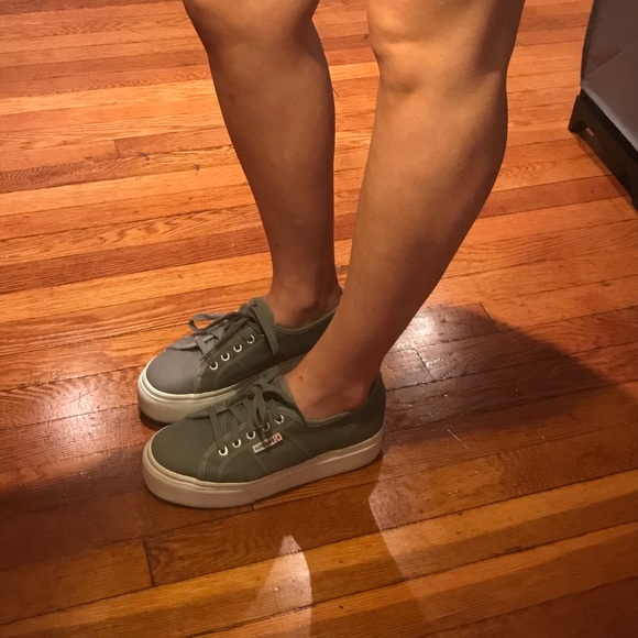 9c8c8b549122 2790 ACOTW SUPERGA Platform Sneakers Grey Sage. M 5931fd836802788fb1005c7b