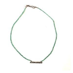 Satya Jewelry Jewelry - Sterling silver and blue satya necklace