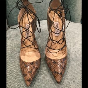 Jimmy Choo Shoes - BEAUTIFUL JIMMY CHOO SNAKE SKIN SHOES LIKE SZ 41