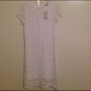Lucky Brand Dresses & Skirts - White lace super cute dress