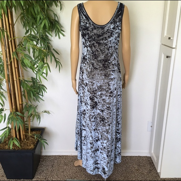 Anthropologie crushed velvet maxi dress size large from for Anthropologie mural maxi dress