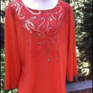 So soft orange 'T' shirt