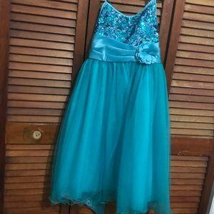 Little Miss Other - Girls blue dress