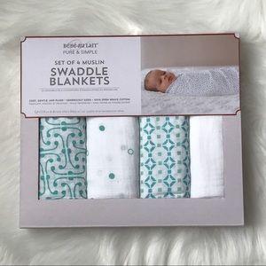 Bebe Au Lait Other - NIB Bebe Au Lait 4pk Swaddle Blankets