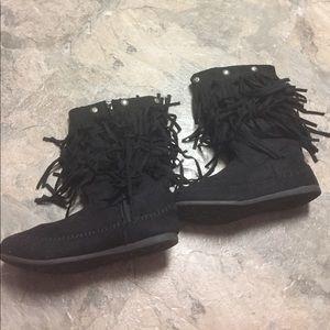 Mudd Other - Fringe zip up kid boot