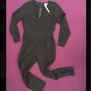ASOS Pants - ASOS Long Sleeve, Long Legged, V-Neck Jumpsuit