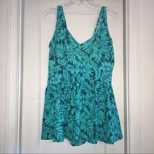 Maxine of Hollywood Other - Maxine of Hollywood Tropical Empire Swimdress 18W