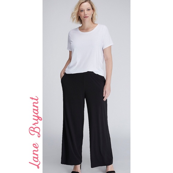 LANE BRYANT ~ New 16 18 20 22 24 26 ~ ALLIE TAILORED STRETCH Wide-Leg Pants