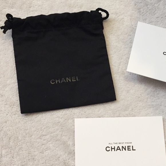 chanel authentic chanel new small dust bag from make an