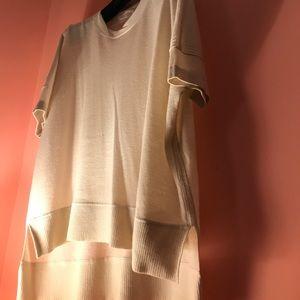 Reed Krakoff Tops - Reed Krakoff Beige hi low sweater