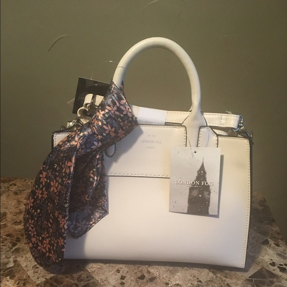 London Fog Bags New Purse With Scarf Ivory Lfm6565 Poshmark