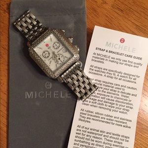 Michele Accessories - Sale!! Michele diamond deco watch