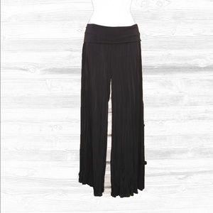 Lapis Pants - Like-New! Lapis Black Pleated  Palazzo Pants