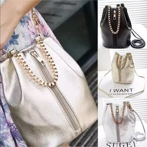 Handbags - Super cute shiny tote NEW with bag