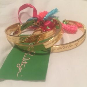 Lilly Pulitzer Jewelry - Lilly pulitzer gold tassel bangles
