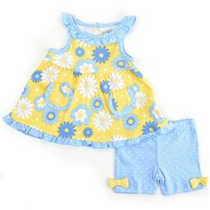 Baby Gear Other - Baby Gear Daisy Floral Pocket Dress & Shorts Set