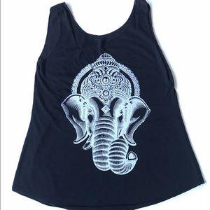 Bondhu Tops - 🌺 BNWT Black Elephant Ganesh Swing Tank Top
