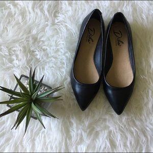 Diba Shoes - Black Ballet Pointy Toe Flats