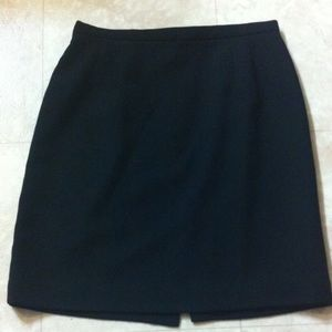 Talbots Black 97% Wool Skirt 14P