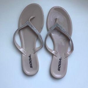 Shoes - Rhinestone Sandals