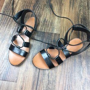 Zara Shoes - Zara Black Gladiator Strappy Sandals