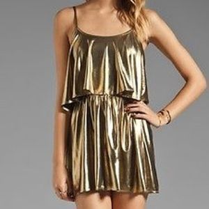 Lovers and Friends Liquid gold Sunkissed dress