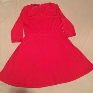 Spense Dresses & Skirts - Spence, Size 16,  Zippered Back, Red Skater Dress