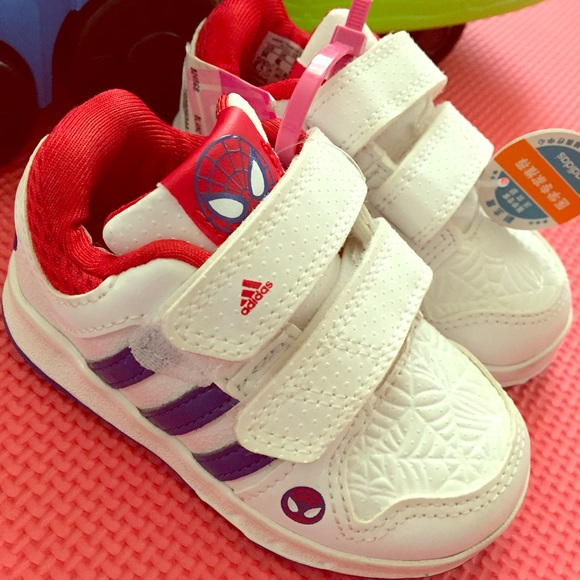 975300464eaded adidas Other - Toddler Adidas Spiderman Sneakers