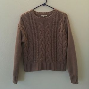 LA Hearts Tops - Cable knit sweater