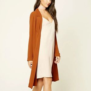 Forever 21 Contemporary Rust Duster *NEW*