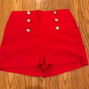 a'gaci Pants - 🍒 A'GACI Red High Waisted Shorts 🍑