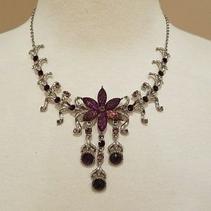 henri bendel Jewelry - Amthethyst crystal necklace!