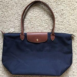 Longchamp Handbags - FIRM🎯🦋Longchamp Le Pliage Large Tote Navy Blue
