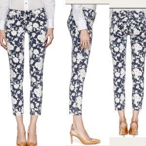 Tory Burch Denim - Tory Burch Floral Alexa Cropped Skinny Jeans